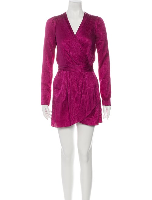 Rachel Zoe Silk Mini Dress Purple