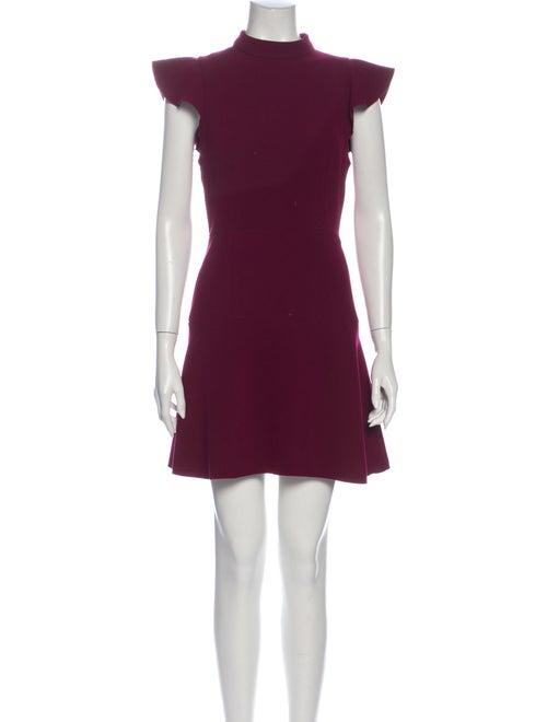 Rachel Zoe Mock Neck Mini Dress