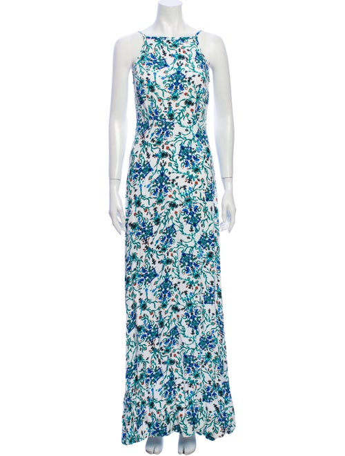 Rachel Zoe Floral Print Long Dress w/ Tags Green