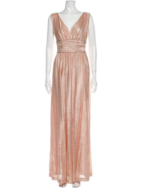 Rachel Zoe V-Neck Long Dress Pink