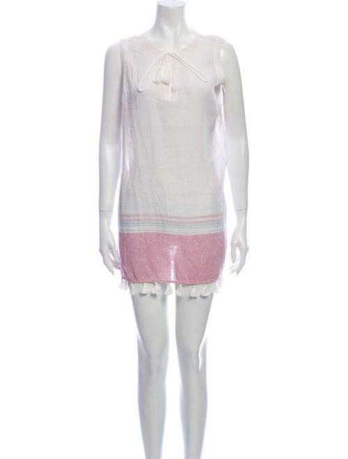 Rachel Zoe Striped Mini Dress White