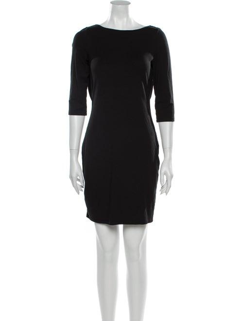 Rachel Zoe Bateau Neckline Mini Dress Black