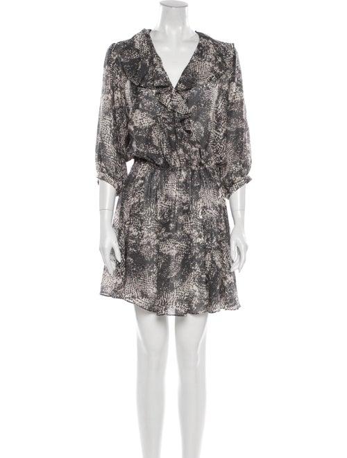 Rachel Zoe Animal Print Mini Dress Grey