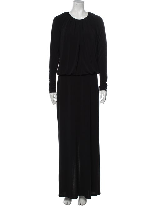 Rachel Zoe Crew Neck Long Dress Black