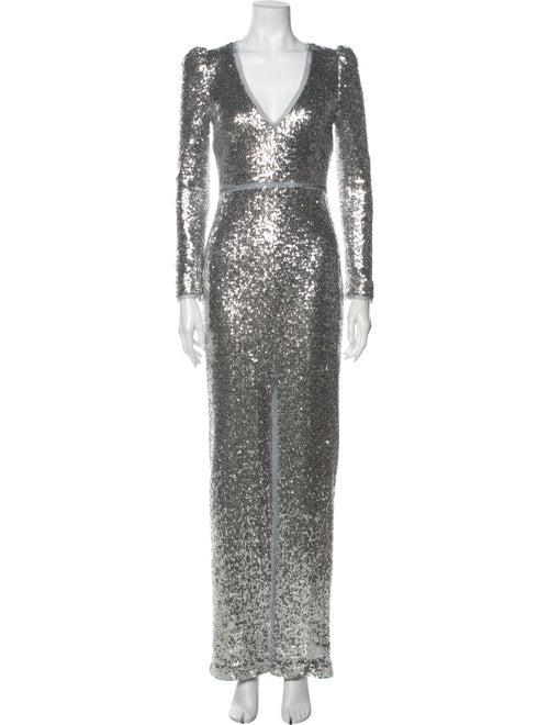 Rachel Zoe Sue Long Dress Silver