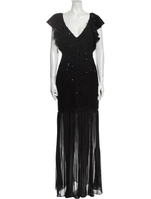 Rachel Zoe Marcella Dress Long Dress w/ Tags Black