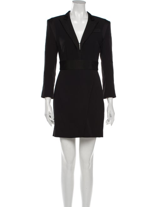 Rachel Zoe V-Neck Mini Dress Black