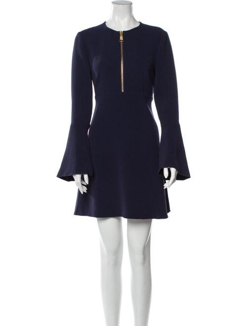Rachel Zoe Crew Neck Mini Dress Blue