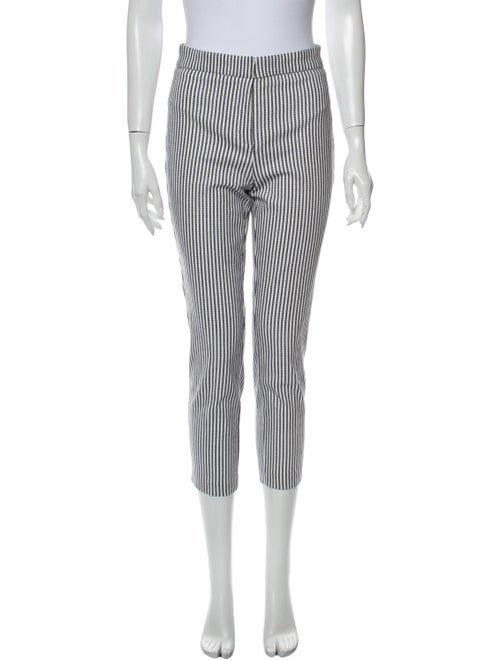 Rachel Zoe Striped Skinny Leg Pants White