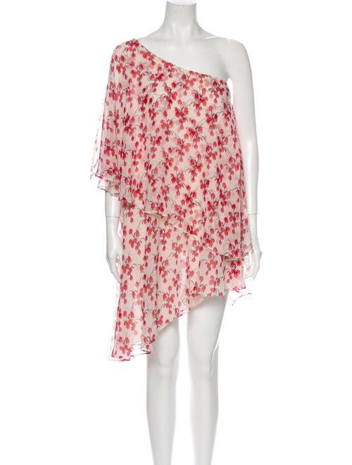Rachel Zoe Silk Mini Dress Pink
