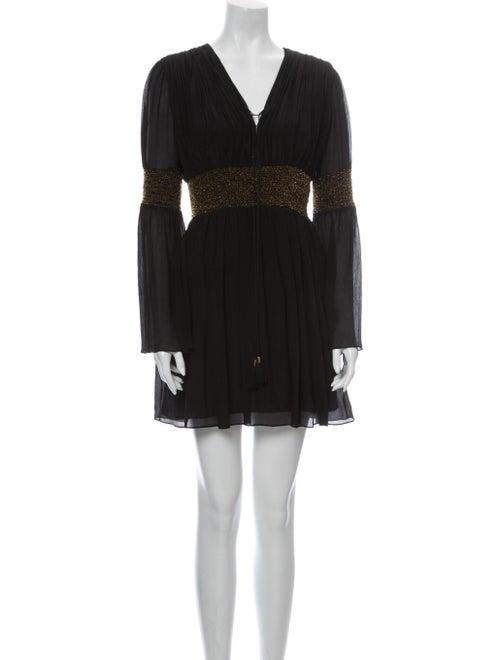 Rachel Zoe Silk Mini Dress Black