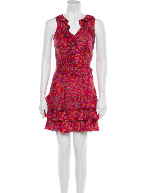 Rachel Zoe Silk Mini Dress Red