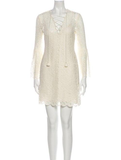 Rachel Zoe V-Neck Mini Dress White