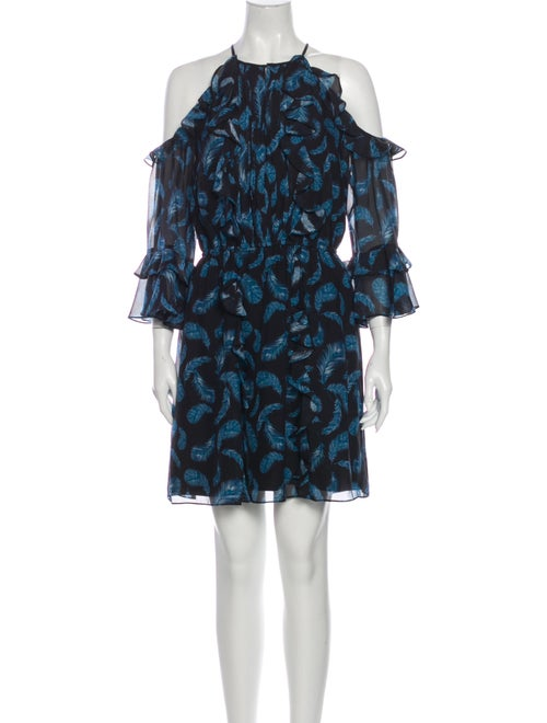 Rachel Zoe Silk Mini Dress Blue