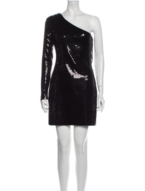 Rachel Zoe One-Shoulder Mini Dress Black