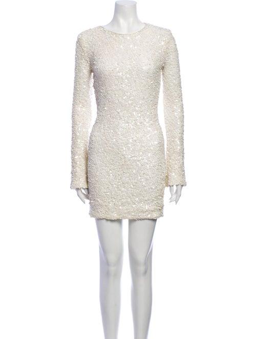 Rachel Zoe Scoop Neck Mini Dress White