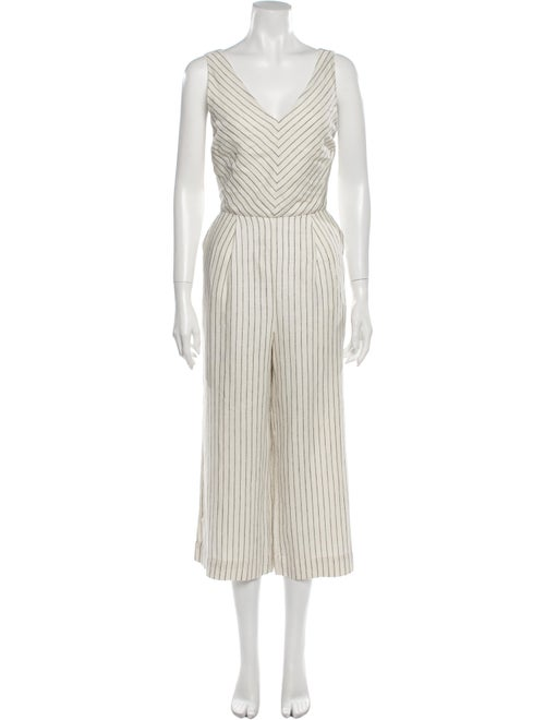 Rachel Zoe Linen Striped Jumpsuit