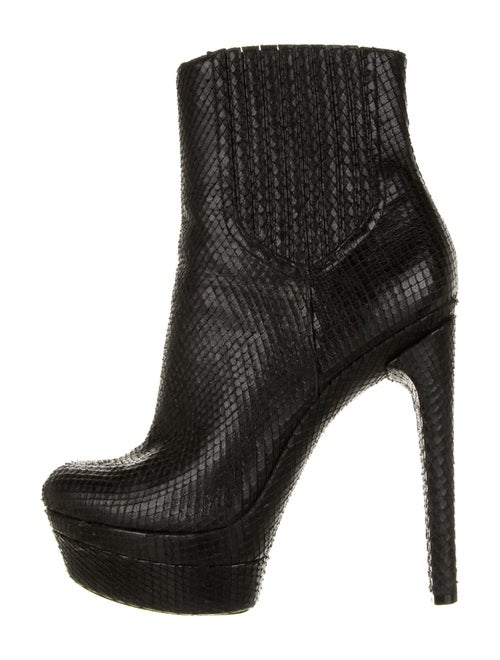 Rachel Zoe Snakeskin Boots Black