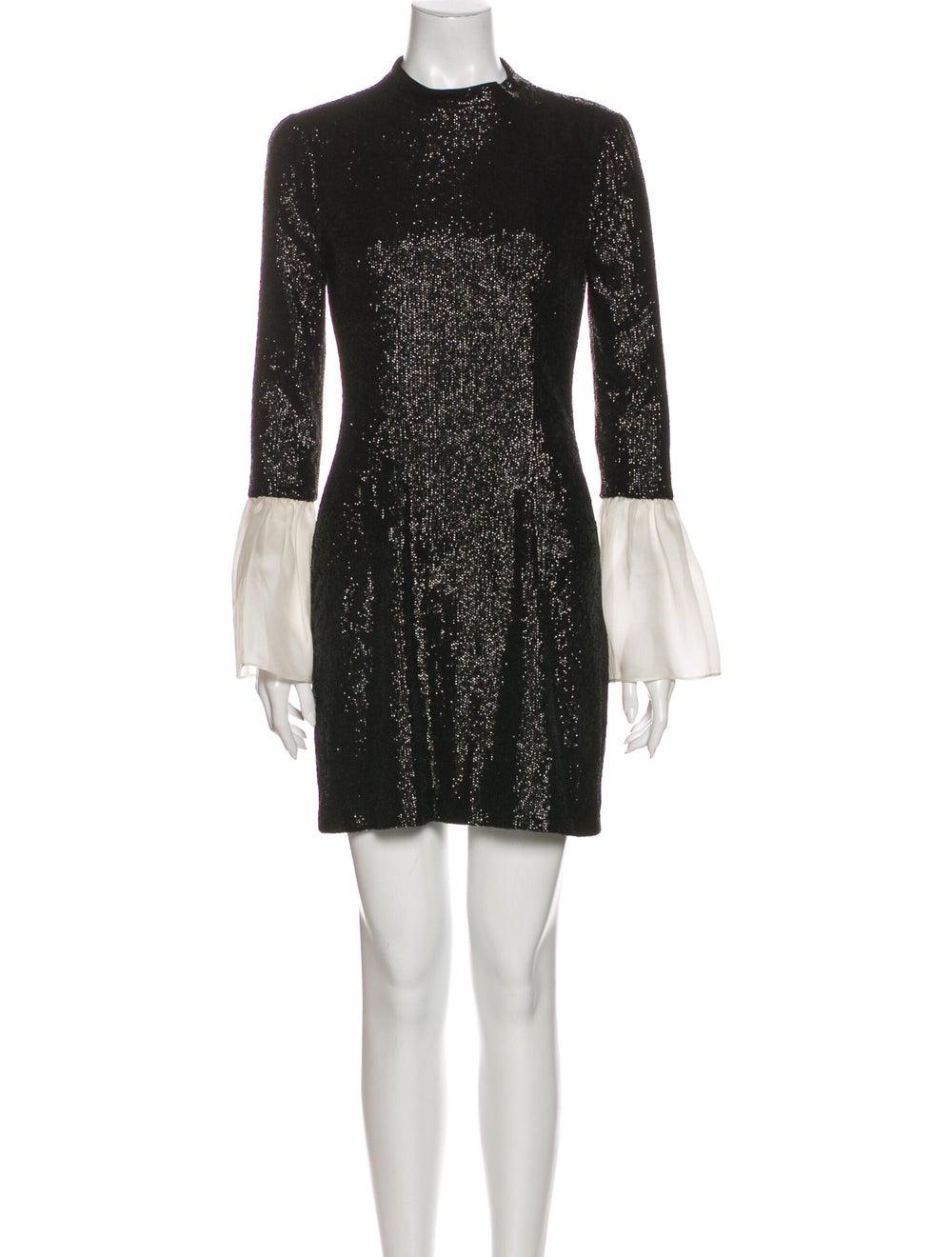 Rachel Zoe Crew Neck Mini Dress Black - image 1