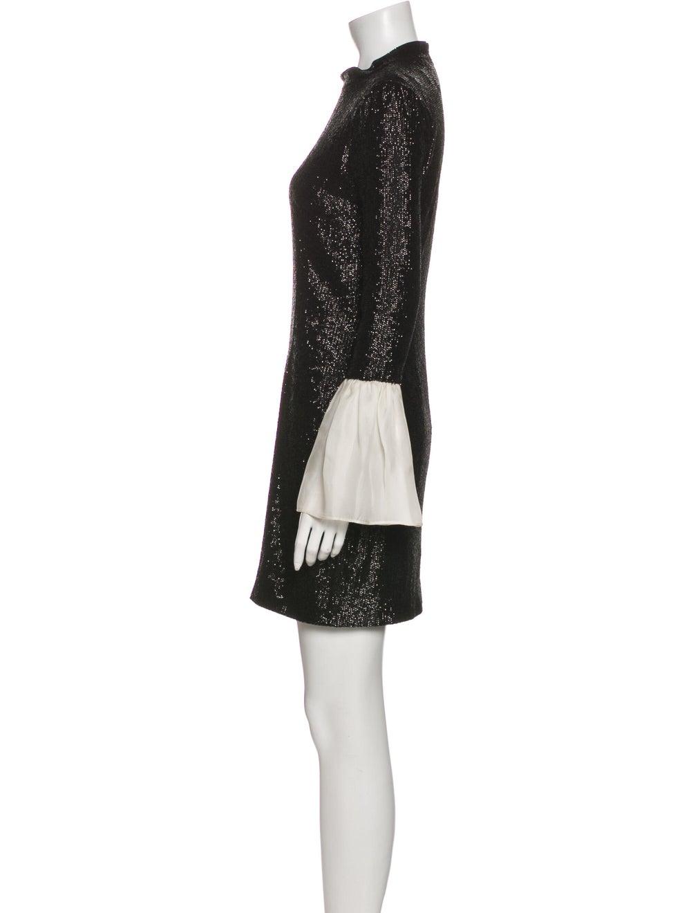 Rachel Zoe Crew Neck Mini Dress Black - image 2
