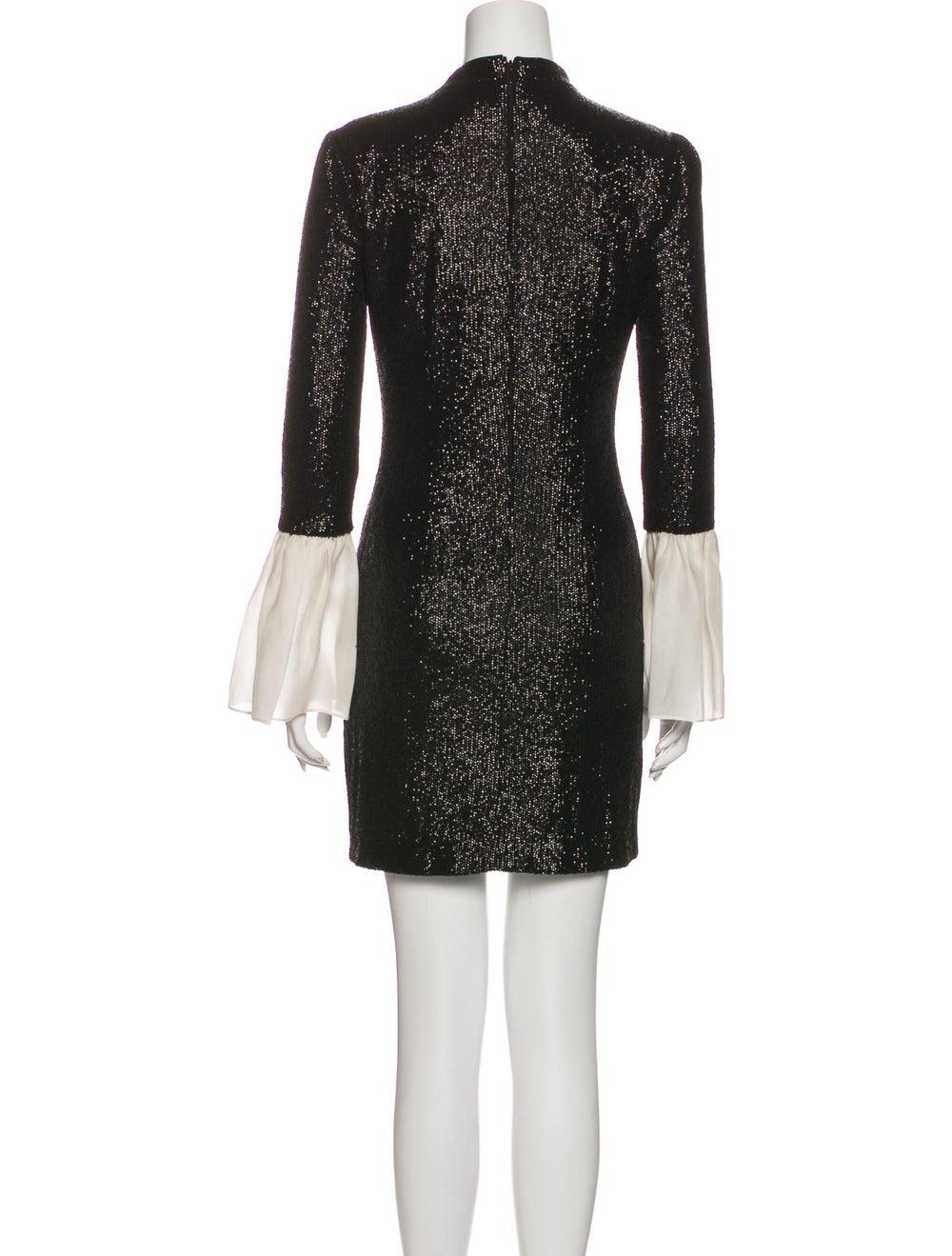 Rachel Zoe Crew Neck Mini Dress Black - image 3