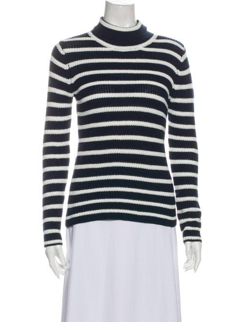 Rolla's Striped Turtleneck Sweater Blue