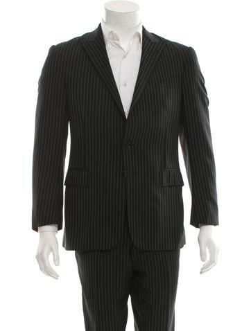 Ralph Lauren Black Label Wool Pinstripe Suit None