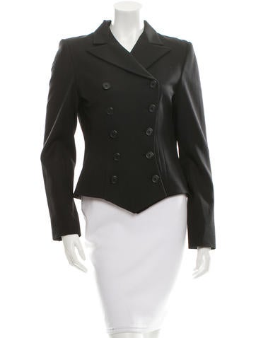Ralph Lauren Black Label Wool Double-Breasted Blazer w/ Tags None