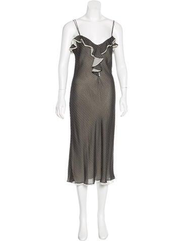 Ralph Lauren Black Label Silk Polka Dot Dress
