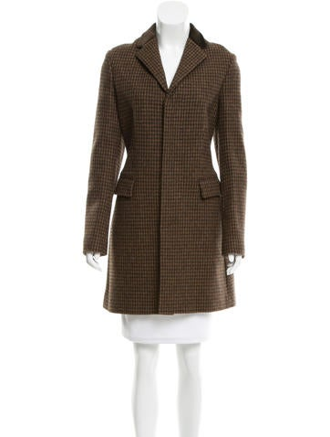 Ralph Lauren Black Label Wool Houndstooth Coat w/ Tags None