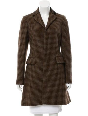Ralph Lauren Black Label Wool Houndstooth Coat w/ Tags None