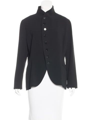 Ralph Lauren Black Label Wool Button-Up Blazer None