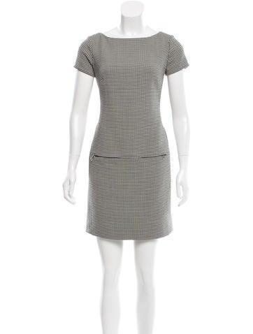 Ralph Lauren Black Label Virgin Wool Houndstooth Dress None