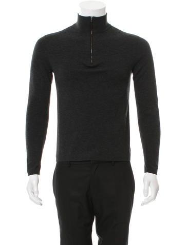 Ralph Lauren Black Label Half-Zip Wool Sweater None