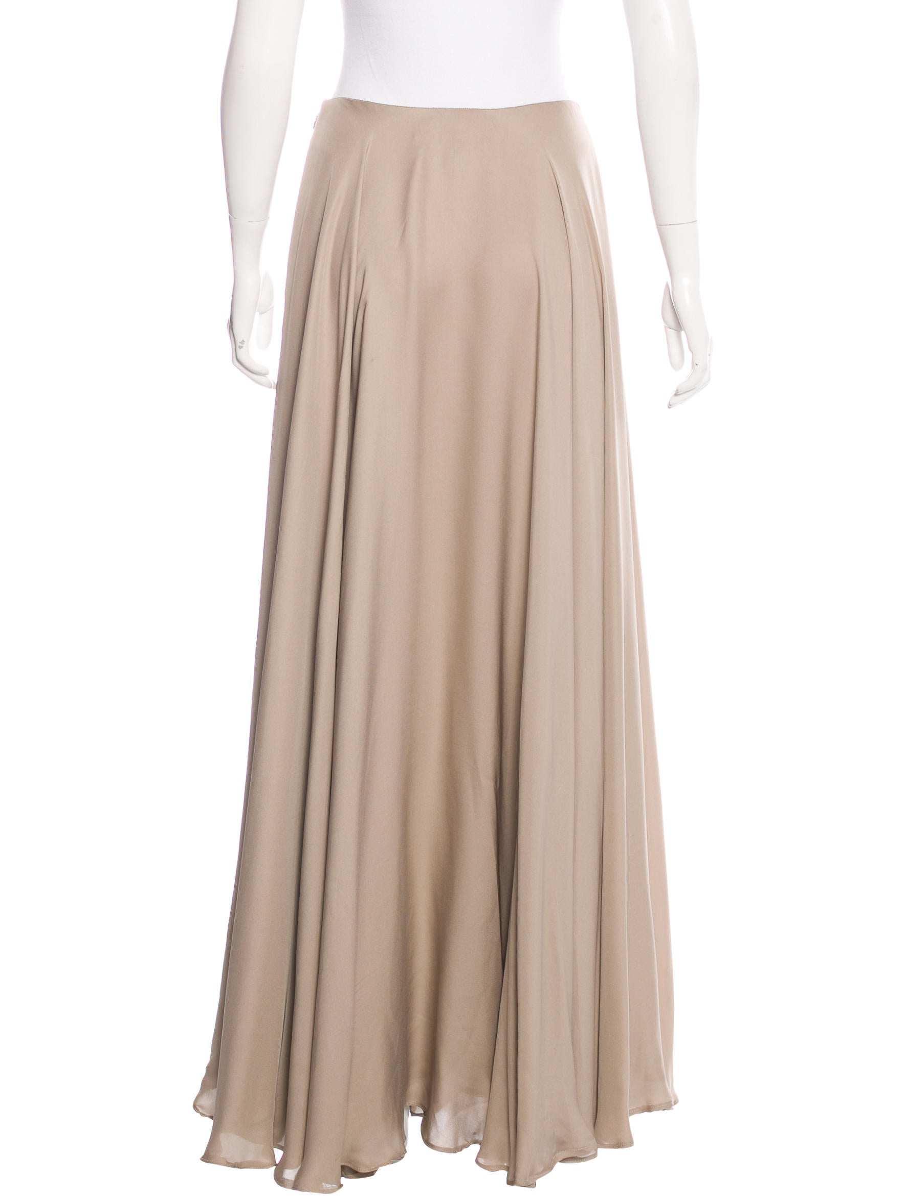 Ralph Lauren Black Label Silk Maxi Skirt Clothing