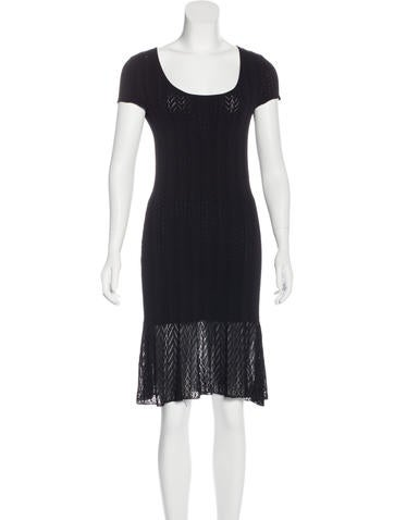 Ralph Lauren Black Label Knit Sheath Dress None
