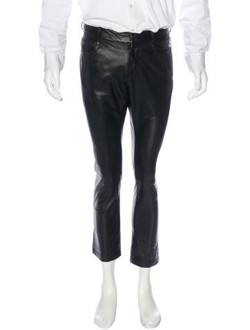 Ralph Lauren Black Label Cropped Leather Pants None