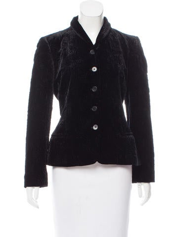 Ralph Lauren Black Label Embroidered Velvet Jacket None