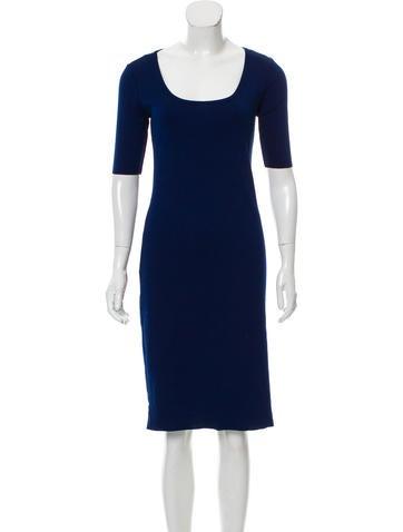 Ralph Lauren Black Label Ribbed Knee-Length Dress None
