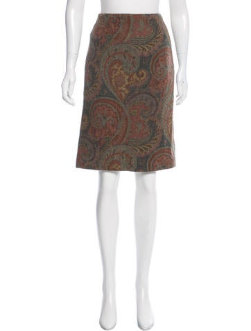 Ralph Lauren Black Label Knee-Length Wool Skirt None