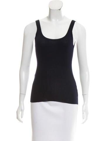 Ralph Lauren Black Label Sleeveless Wool & Silk-Blend Top None