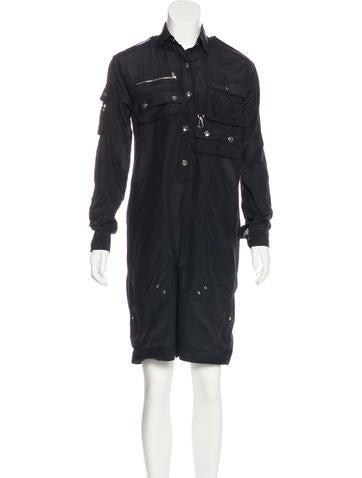Ralph Lauren Black Label Silk Cropped Jumpsuit None