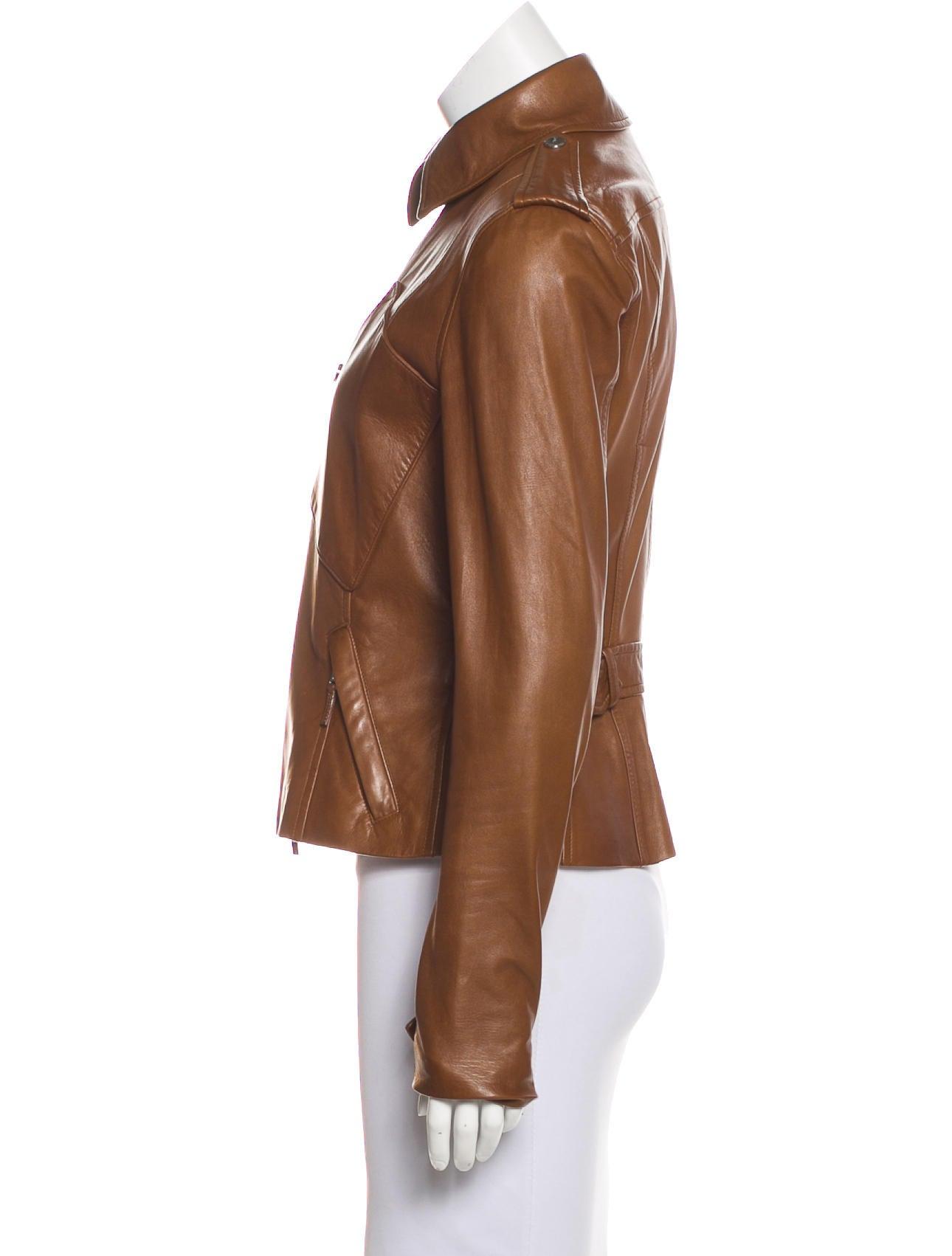Ralph Lauren Black Label Leather Zip-Up Jacket