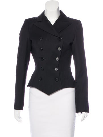 Ralph Lauren Black Label Wool Double-Breasted Blazer None