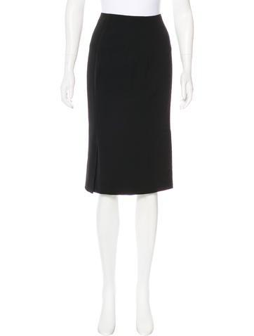 Ralph Lauren Black Label Wool Pencil Skirt None