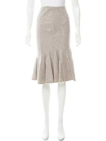 Ralph Lauren Black Label Knee-Length Wool Skirt w/ Tags None