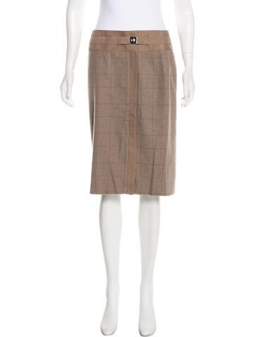 Ralph Lauren Black Label Wool & Cashmere Knee-Length Skirt w/ Tags None