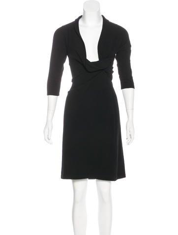 Ralph Lauren Black Label Cashmere Knee-Length Dress None