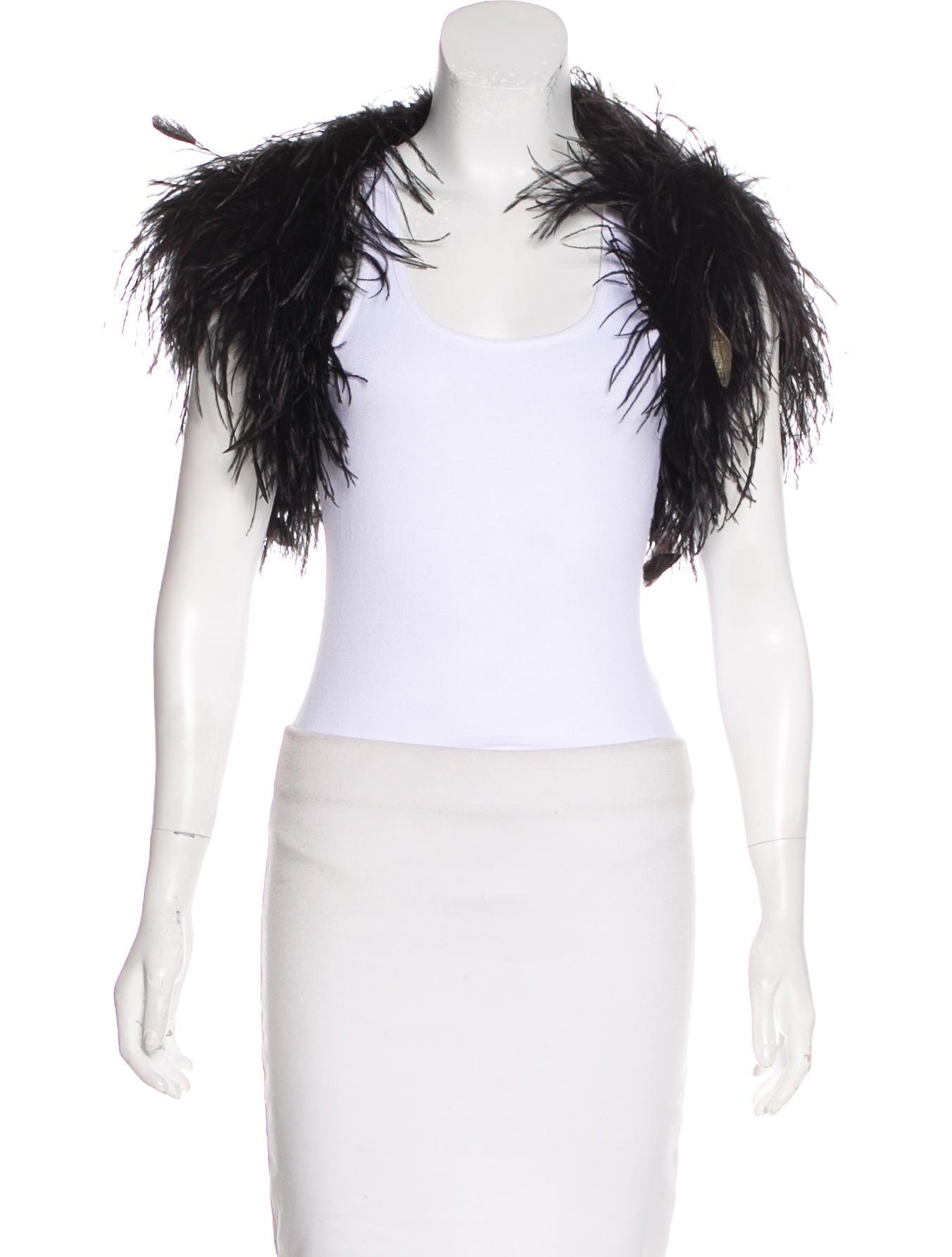 27b7bed53ac Ralph Lauren Black Label Ostrich Feather Jacket - Clothing ...