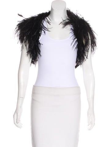 Ralph Lauren Black Label Ostrich Feather Jacket None